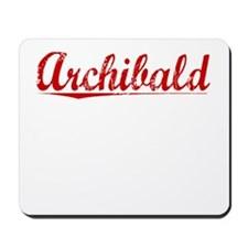 Archibald, Vintage Red Mousepad