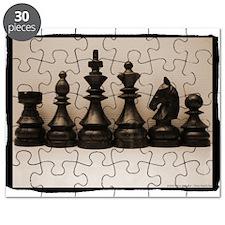blackchesslineupsepiaframe.jpg Puzzle