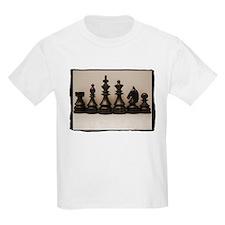 blackchesslineupsepiaframe.jpg T-Shirt