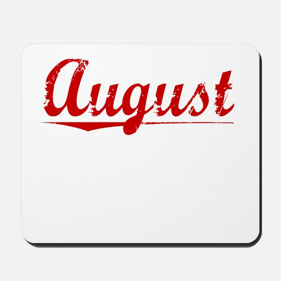 August, Vintage Red Mousepad