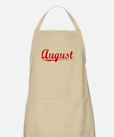 August, Vintage Red Apron