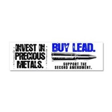 INVEST LEAD BULLETS Car Magnet 10 x 3