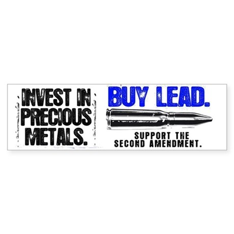 INVEST LEAD BULLETS Sticker (Bumper)
