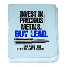 INVEST LEAD BULLETS baby blanket