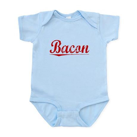 Bacon, Vintage Red Infant Bodysuit