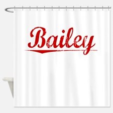 Bailey, Vintage Red Shower Curtain