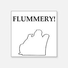 nero wolfe flummery gifts t-shirts Square Sticker