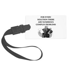 funny problems solutions proverb Luggage Tag