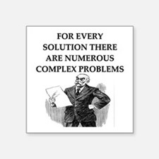 funny problems solutions proverb Square Sticker 3""