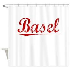 Basel, Vintage Red Shower Curtain