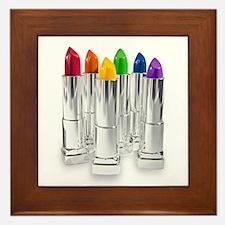 lipstick lesbian Framed Tile