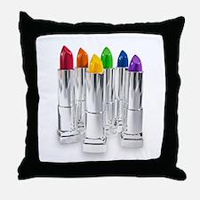 lipstick lesbian Throw Pillow