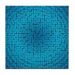 NEW BLUE Tile Coaster