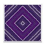 PURPLE TRIANGLE Tile Coaster