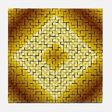 YELLOW TRIANGLE Tile Coaster