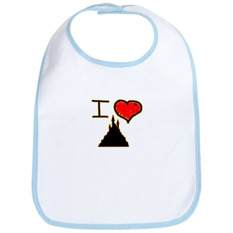 i love halloween castle on dark creepy night Bib
