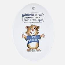 Cartoon Hamster Oval Ornament