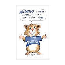 Cartoon Hamster Rectangle Decal