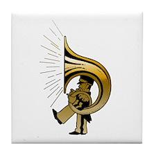 """Gold"" TubaGuy Tile Coaster"