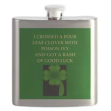 irish garden joke gifts t-shirts Flask