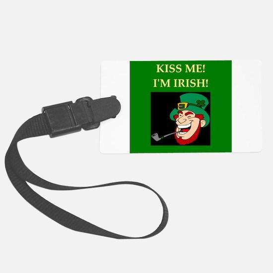 irish kiss me ireland Large Luggage Tag