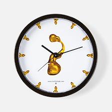 Blown Gold ? Wall Clock