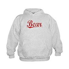 Bear, Vintage Red Hoodie