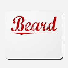 Beard, Vintage Red Mousepad