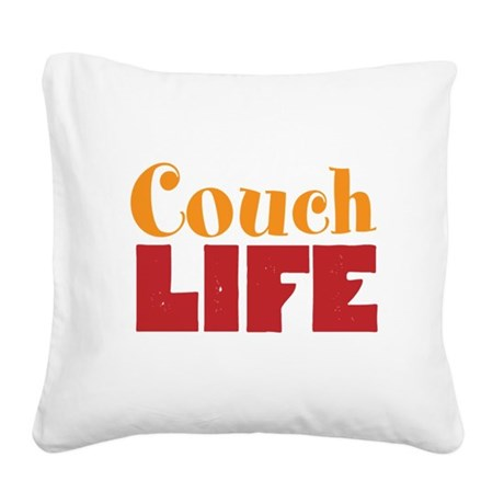 Couch Life Square Canvas Pillow