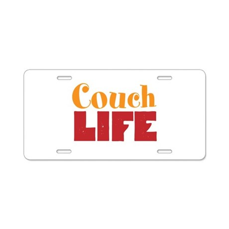 Couch Life Aluminum License Plate