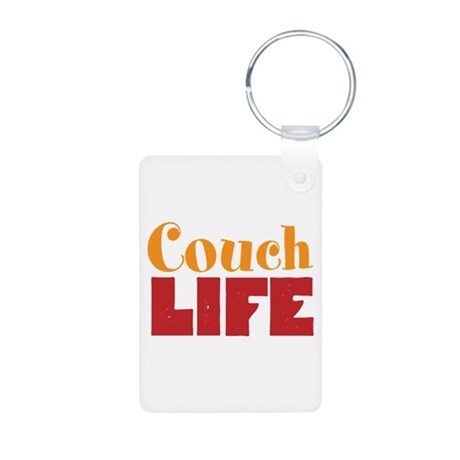 Couch Life Aluminum Photo Keychain