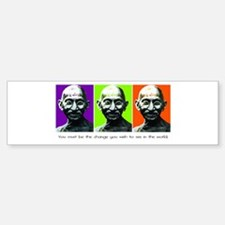 Gandhi - Be the change Bumper Bumper Bumper Sticker
