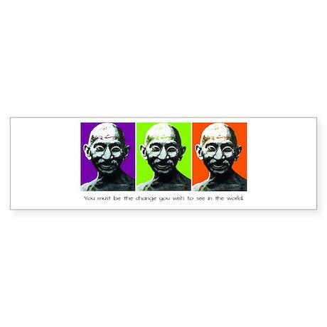 Gandhi - Be the change Bumper Sticker