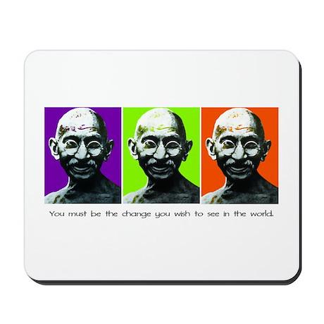 Gandhi - Be the change Mousepad