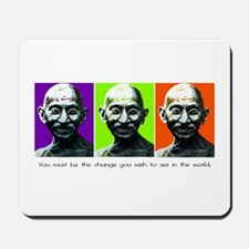 Gandhi - Be the change Mousepad