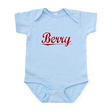 Berry, Vintage Red Infant Bodysuit