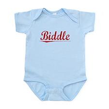 Biddle, Vintage Red Infant Bodysuit