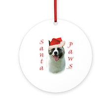Akita Paws Ornament (Round)