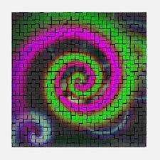 PHSYCHADELIC Tile Coaster