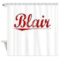 Blair, Vintage Red Shower Curtain