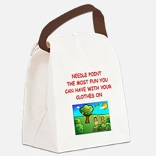 needlepoint Canvas Lunch Bag