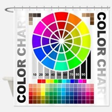 Color chart Shower Curtain