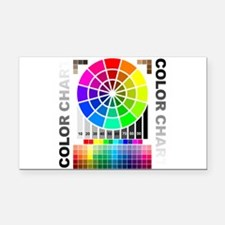 Color chart Rectangle Car Magnet