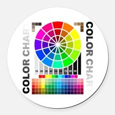 Color chart Round Car Magnet