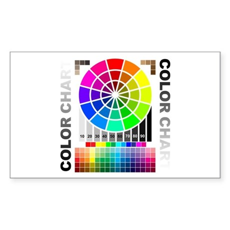Color chart Sticker (Rectangle 50 pk)