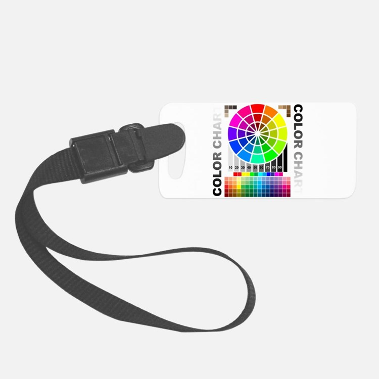 Color chart Luggage Tag