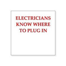"""ELECTRIC.png Square Sticker 3"""" x 3"""""""