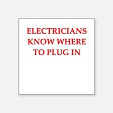 "ELECTRIC.png Square Sticker 3"" x 3"""