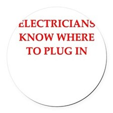 ELECTRIC.png Round Car Magnet