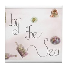 by the sea 1 Tile Coaster